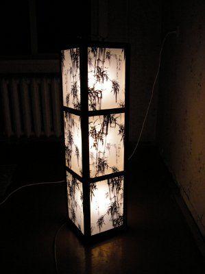 напольные светильники своими руками. фото