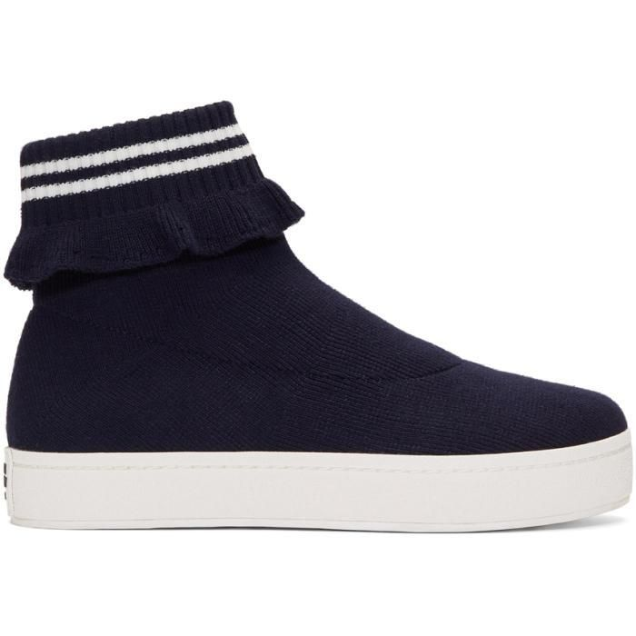 Opening Ceremony Navy Bobby High-Top Slip-On Sneakers EKYZQ
