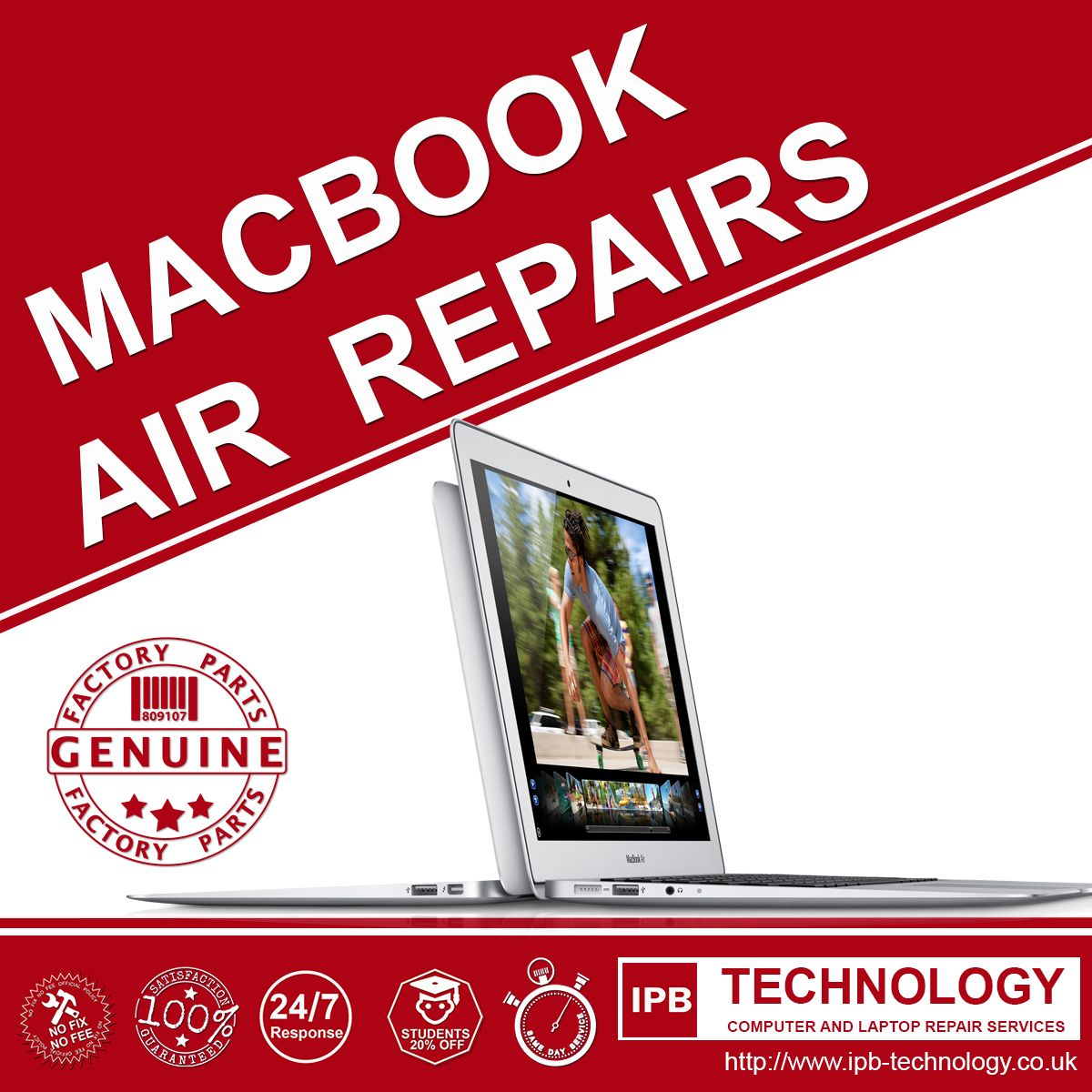 We specialise in MacBook Air Repair and Servicing for