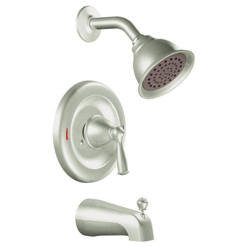 Moen 82910srn Single Handle Tub And Shower Faucet Set 1570 3184