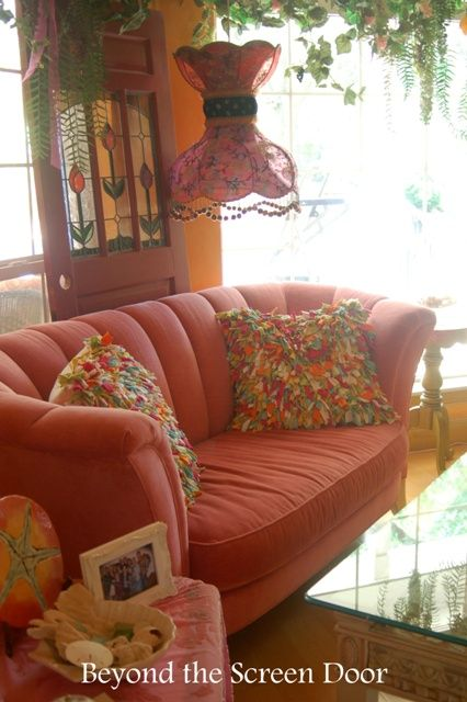 A Fun-Filled Tour of a Sun-Filled, Color-Filled Parlor | Beyond the Screen Door