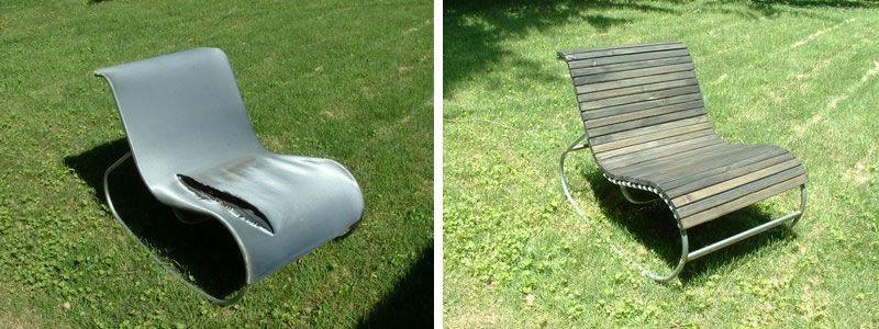 Modern Outdoor Rocking Chair   Ikea Hack Believe It Or Not