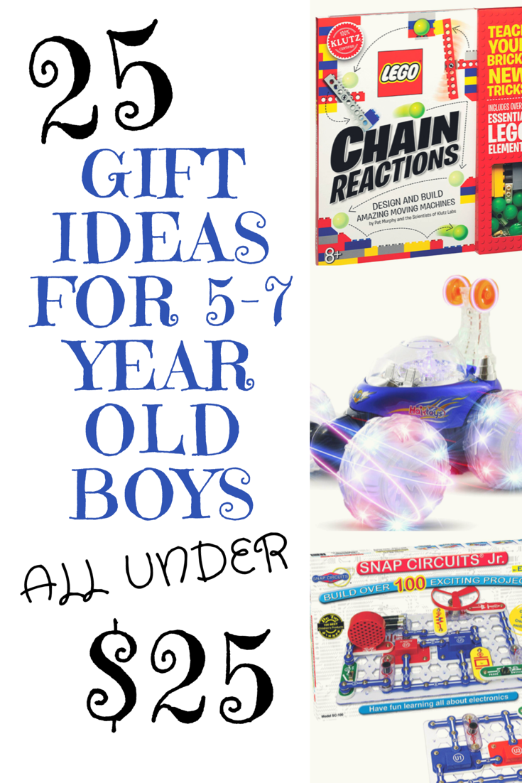 25 Gift Ideas for 5-7 year old boys under $25 | Christmas ...