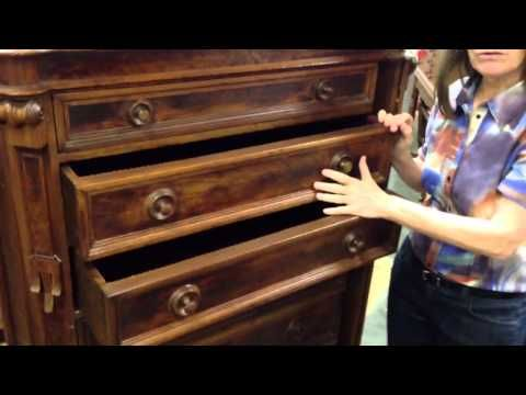 Antique furniture, Renaissance revival drawer chest with rare side lock in  our antiques mall. - Antique Furniture, Renaissance Revival Drawer Chest With Rare Side