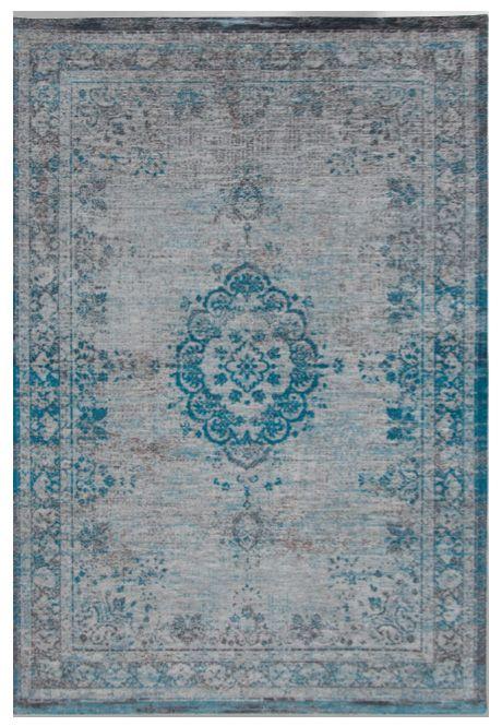 Orientteppich Muster Gefarbt Gewebt Blau Grau Vintage Teppich