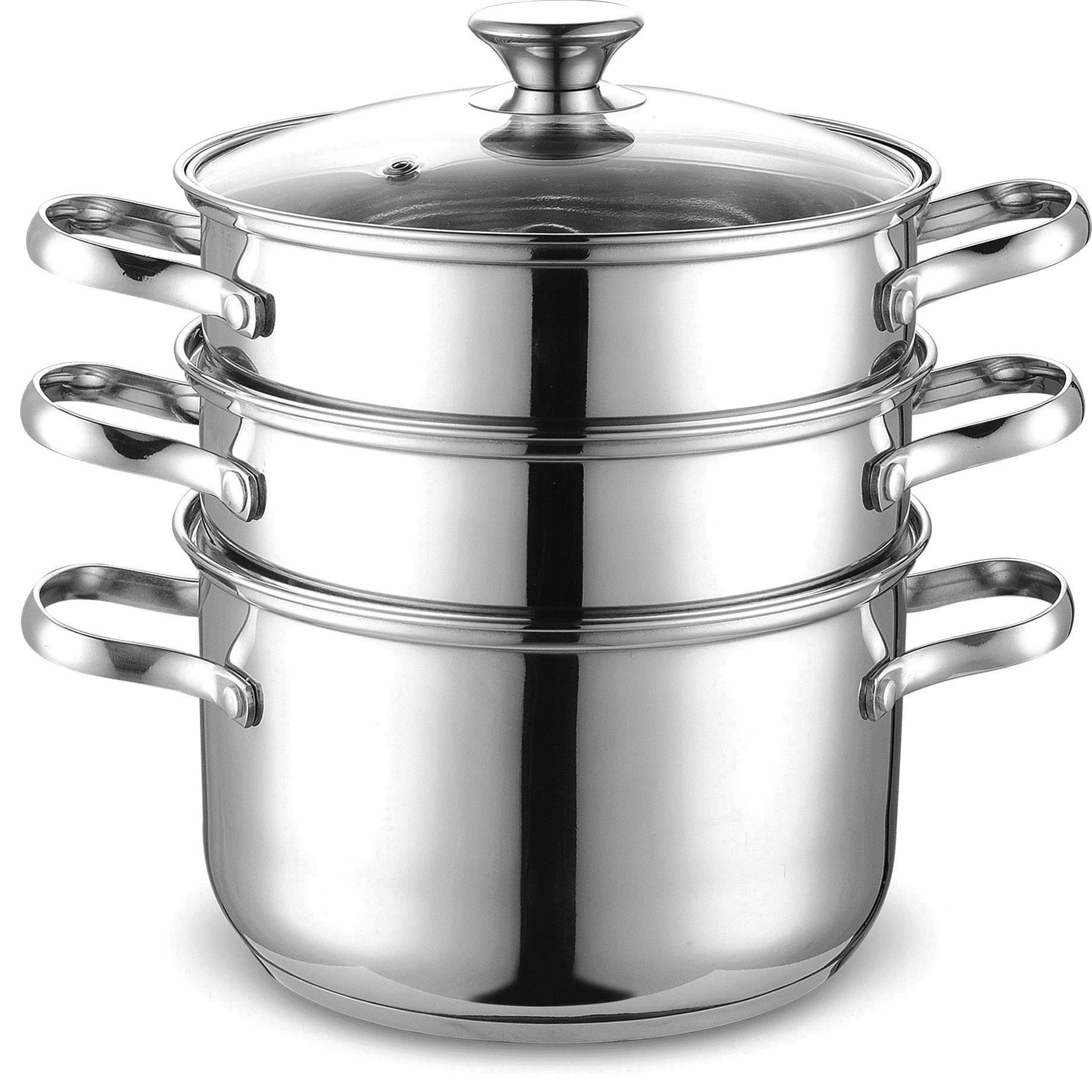 4 piece stainless steel multi pot set in 2020 cook n