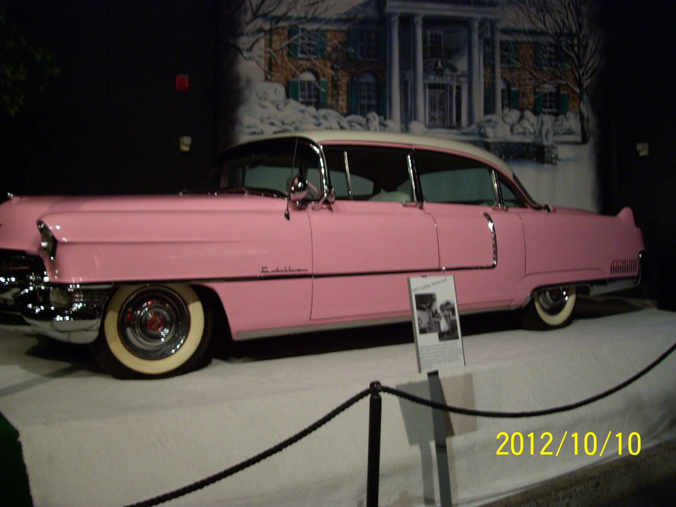 Saw Elvis' cars.  This is the famous pink Cadillac Elvis bought for his Momma.  Still looks like new.