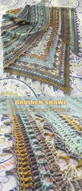 Bruinen Crochet Wrap [Free Crochet Pattern] | Pinterest | Tücher ...