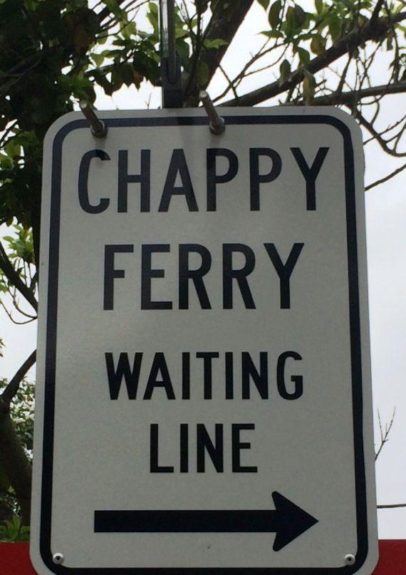 line for ferry to #Chappaquiddick, #Martha's Vineyard. Photo Carly Carson