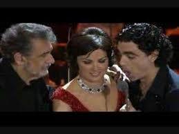 Placido Domingo, Anna Netrebko and Rolando Villazon
