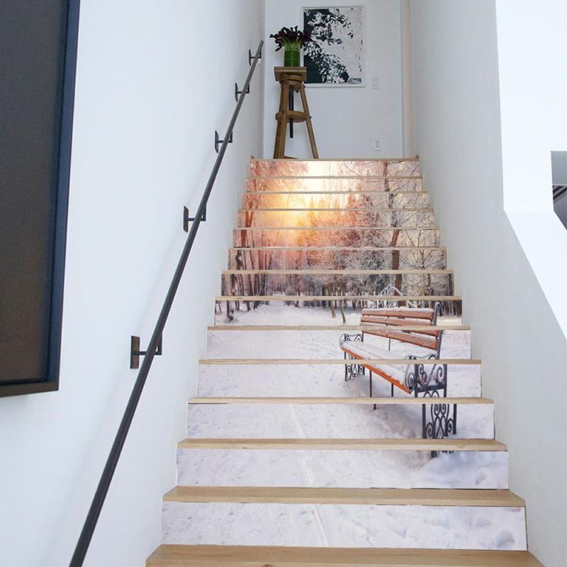 6 13 piezas pvc creativo diy 3d patr n para la casa - Pintura para escaleras ...