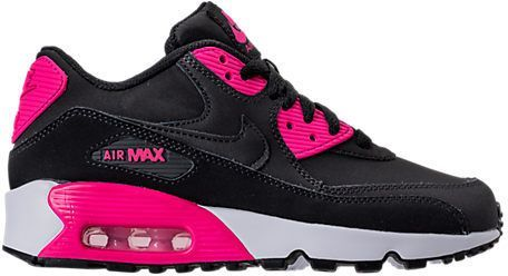 online store ec3bd 3856a Nike Girls  Grade School Air Max 90 Leather Casual Shoes