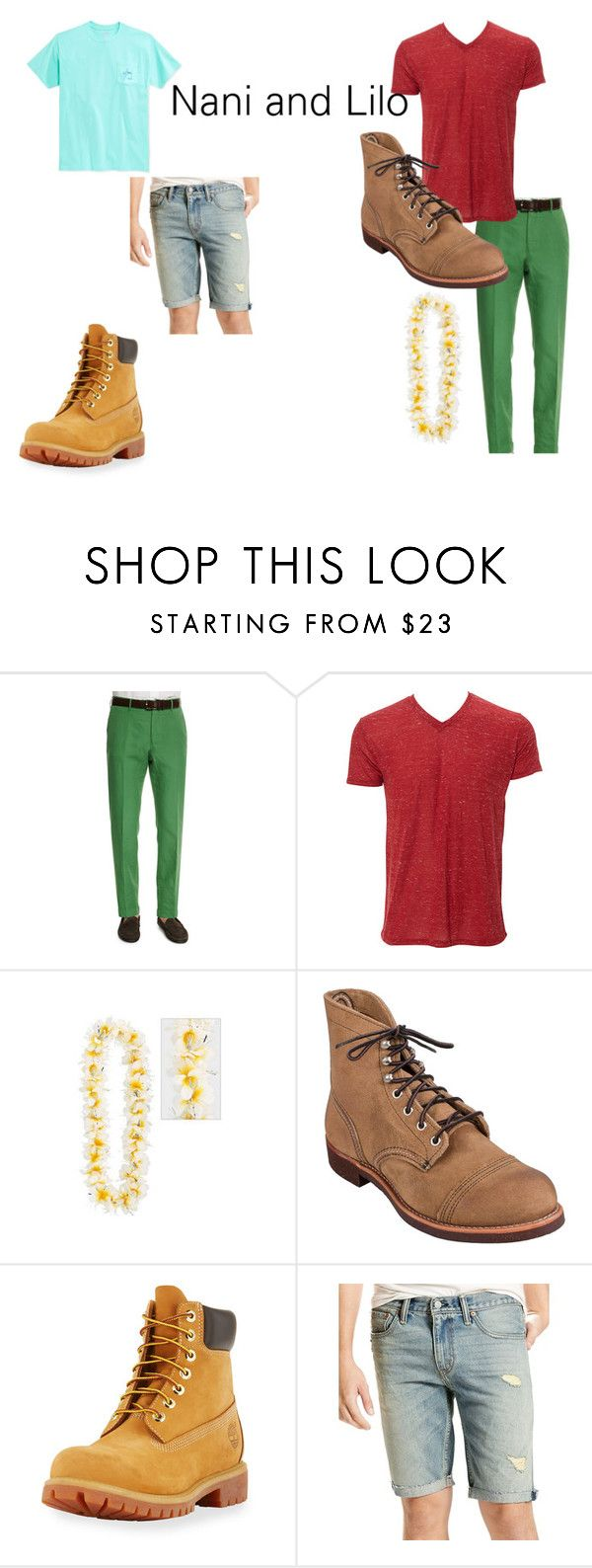 """""""genderbender"""" by zoeyfrederick on Polyvore featuring Incotex, Red Wing, Timberland, Levi's and Guy Harvey"""