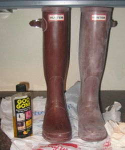 82d07d1ae03 Vineyard Loveknots -: How To Clean Hunter Boots...goo gone. Then ...