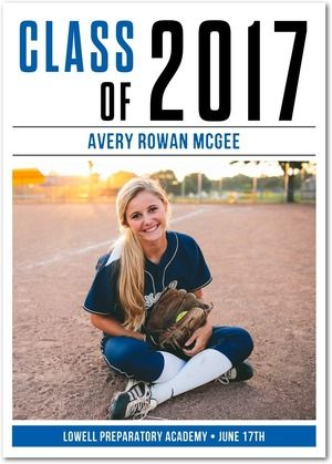 This graduation announcement can be customized to match your school colors! Perfect for the grad who is full of school spirit.