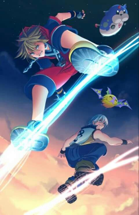 Sora E Riku Kingdom Hearts Wallpaper Kingdom Hearts Kingdom Hearts Fanart