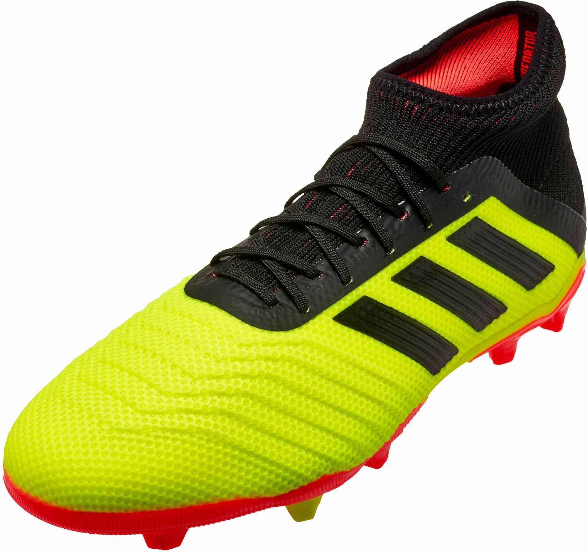 Kids Adidas Predator 18 1 Fg Energy Mode Soccerpro In 2020 Adidas Soccer Shoes Adidas Predator Soccer Shoes