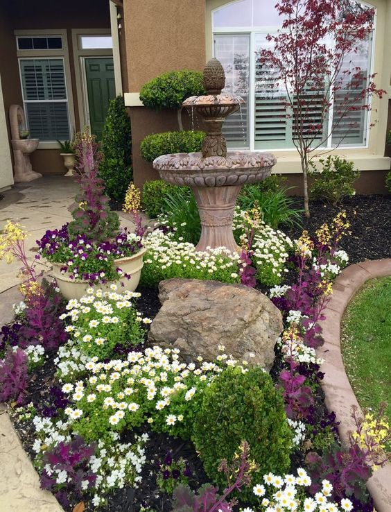 Produzieren Sie Ihren Vorgarten oder Garten. Das Aussehen eines Hofes ist kritisch, da ...   ... #landscapingfrontyard