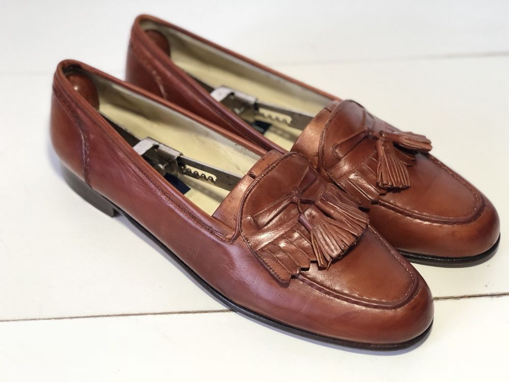 5205e19b5e72 Bostonian Stadium First Flex Penny Loafer Basket Weave Men s 12 M Brown  Leather