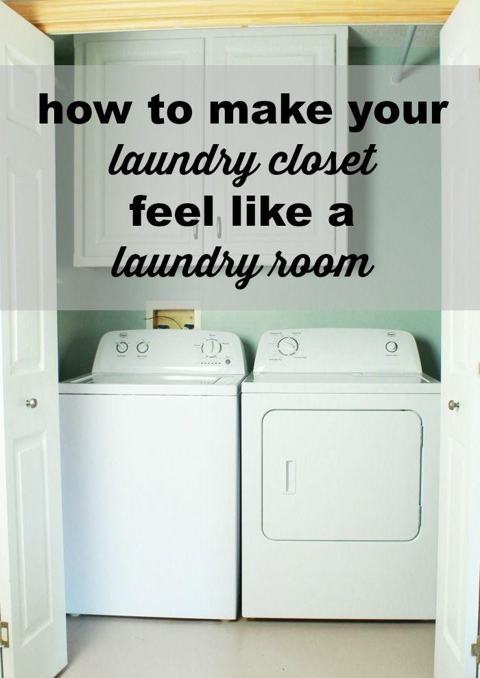 How To Make Your Laundry Closet Feel Like A Laundry Room Laundry