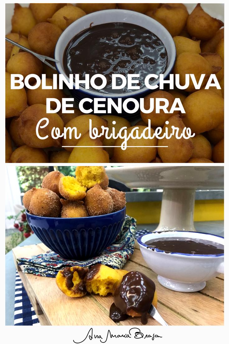Receita De Bolinho De Chuva De Cenoura Ana Maria Braga Receita Receitas Comida E Bebida Bolinho De Chuva