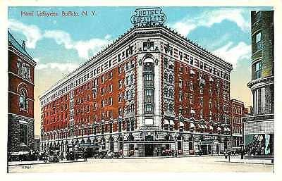 Buffalo New York Ny 1920s Hotel Lafayette Antique Vintage Postcard
