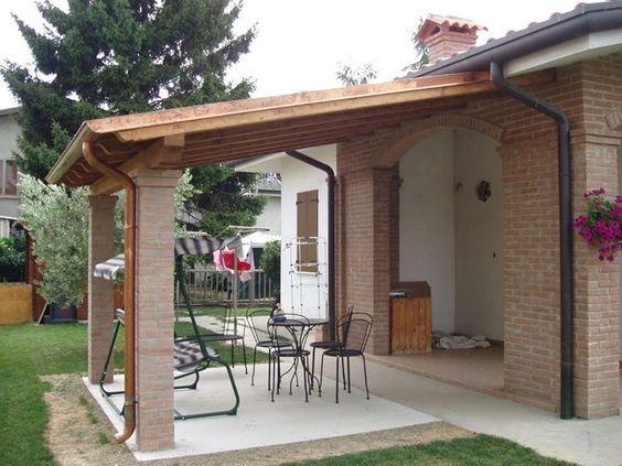 Case Di Legno E Mattoni : Tettoia in legno e mattoni casa di campagna nel