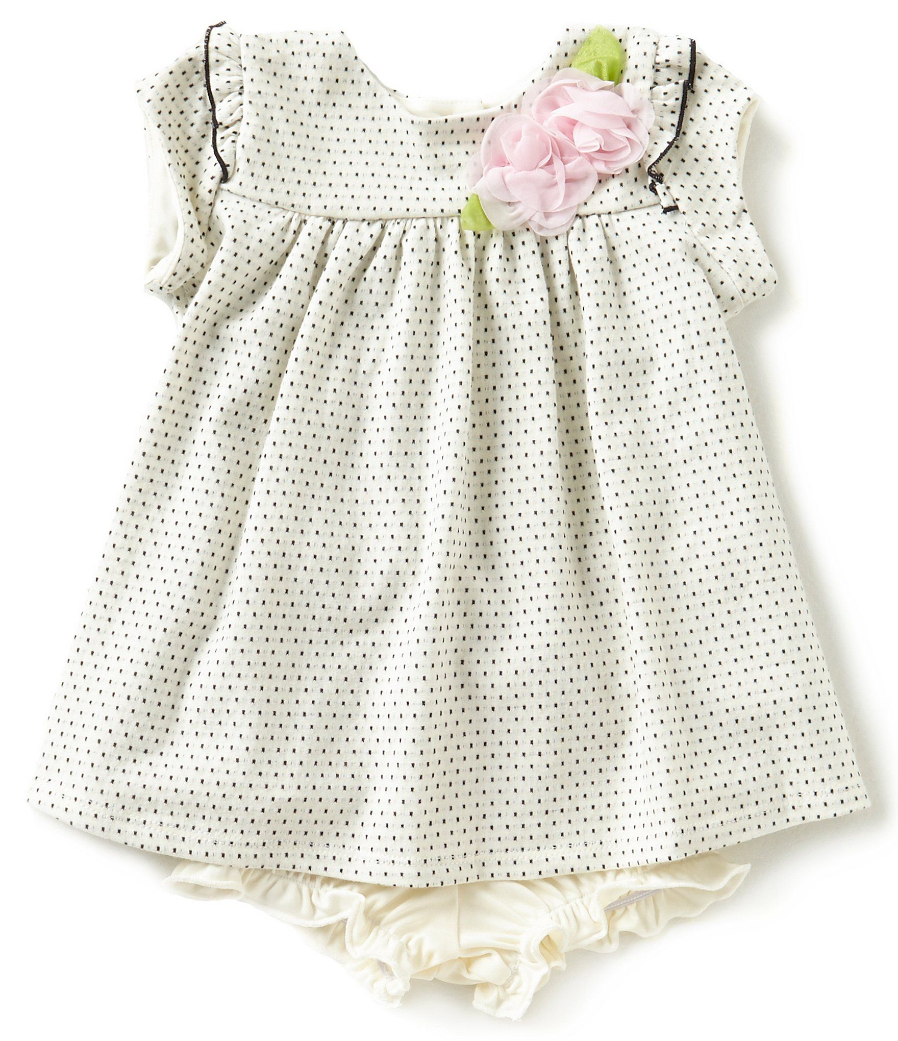 Marmellata Baby Girls Newborn 24 Months Dotted Dress