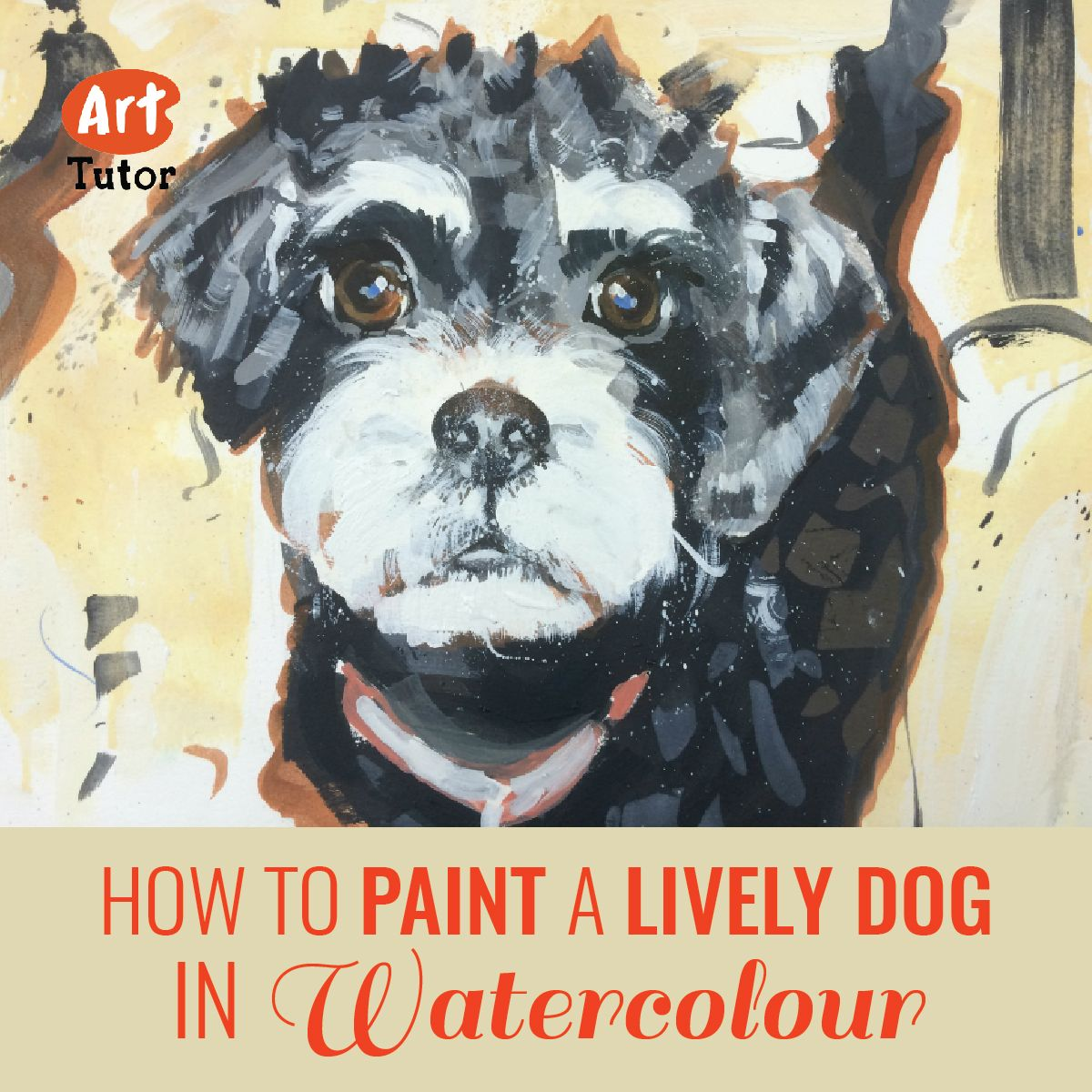 Learn how to paint this lively little dog in watercolour, in our latest blog post by guest artist Georgie Mason.