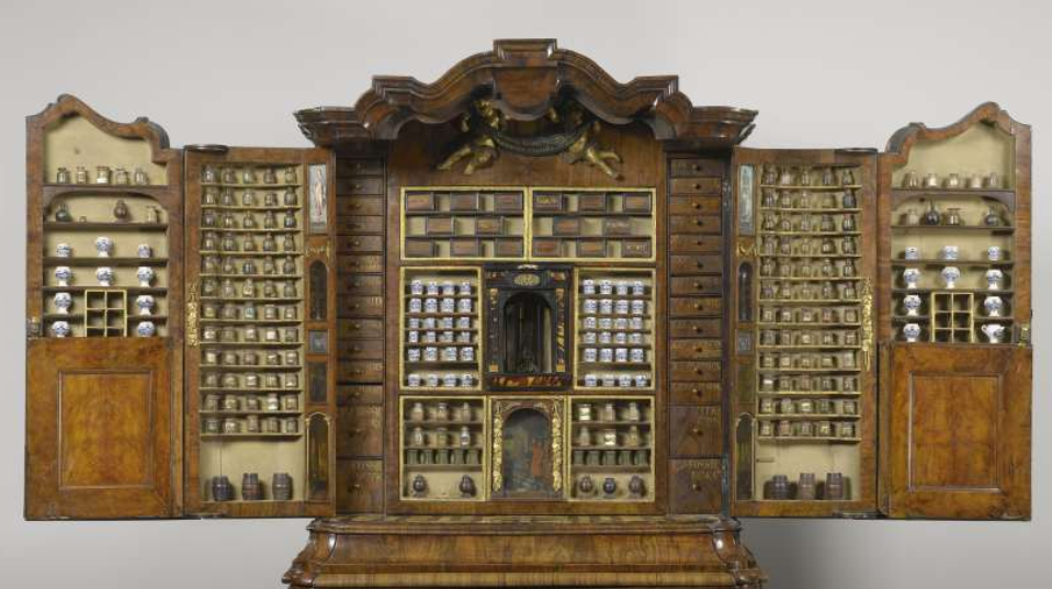 Apothecary Cabinet From Delft, 1730