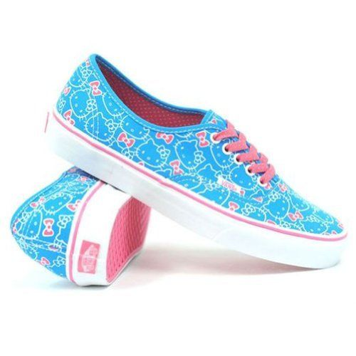 e343a381b0ac81 Vans - U Authentic Shoes In Hello Kitty Blue Hot Pink