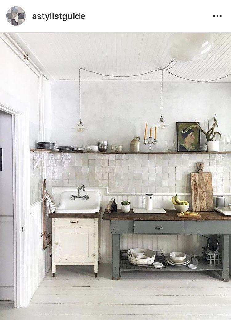 Pin by Christina Bader on küche Pinterest Kitchens and House - küche ohne oberschränke