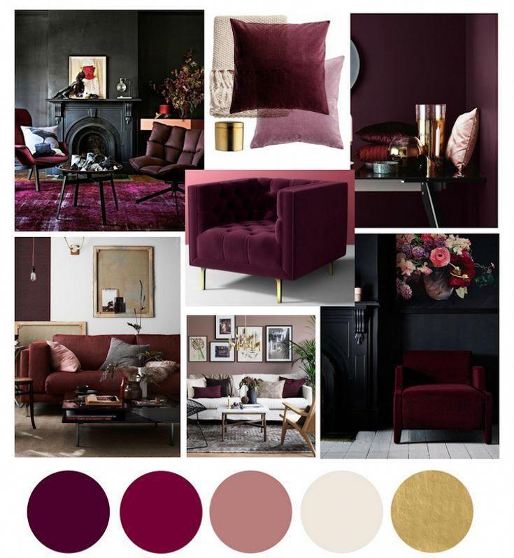 Cherry Lvp Accent Wall: Burgundy Living Room, Living