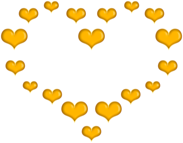 Yellow Heart Shape From Hearts Png Clipart Yellow Heart Clip Art Free Clip Art
