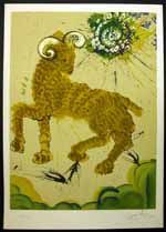 Salvador Dali - Twelve Signs (12) of the Zodiac Illustrated Book ~ Aries