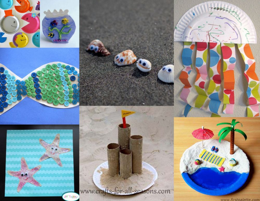 Easy Breezy Kids Summer Crafts 36 Beach Crafts For Kids With