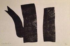Zwarte ketel - houtdruk op handgeschept papier - oplage: 20 ex  Afmetingen: ca. 35 x 45 cm
