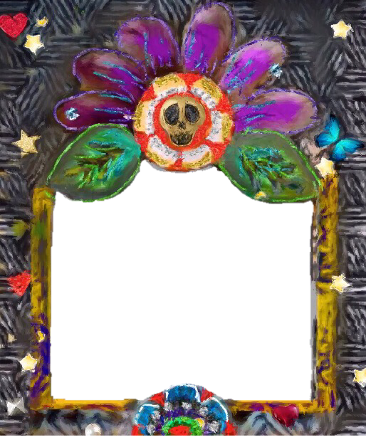 Dia De Los Muertos Day Of The Dead Free To Use Digital Photo Frame