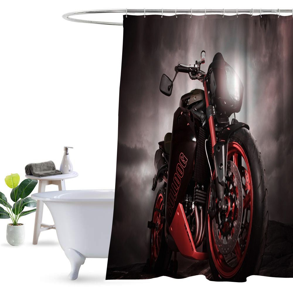 New Best Motorcycle Shower Curtain 100 Polyester Triumph Motorcycles India Triumph Motorcycle Clothing Triumph Street Twin
