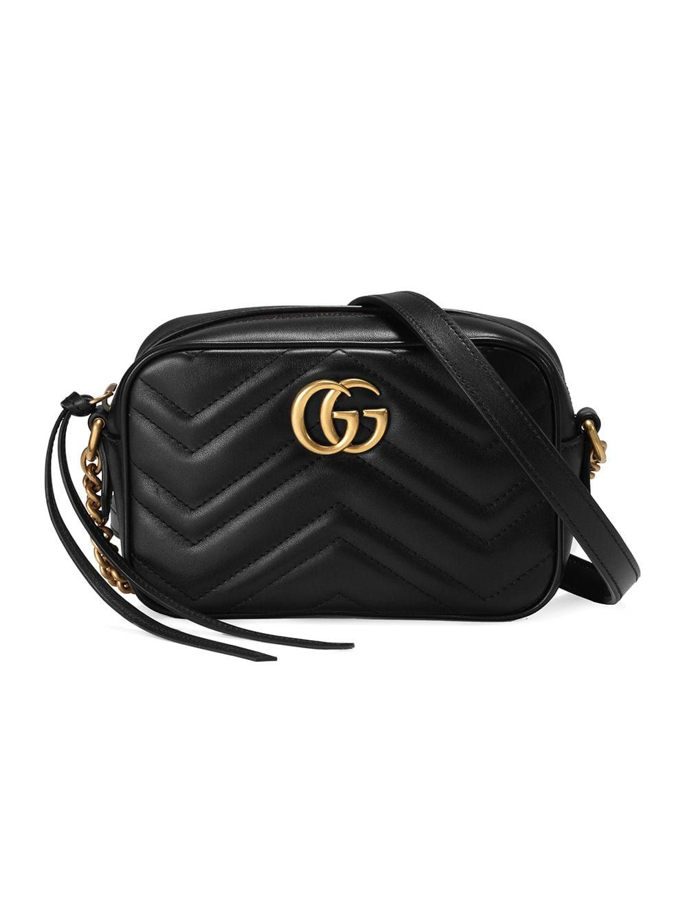 Gucci Black GG Marmont Mini Leather Bag – Farfetch