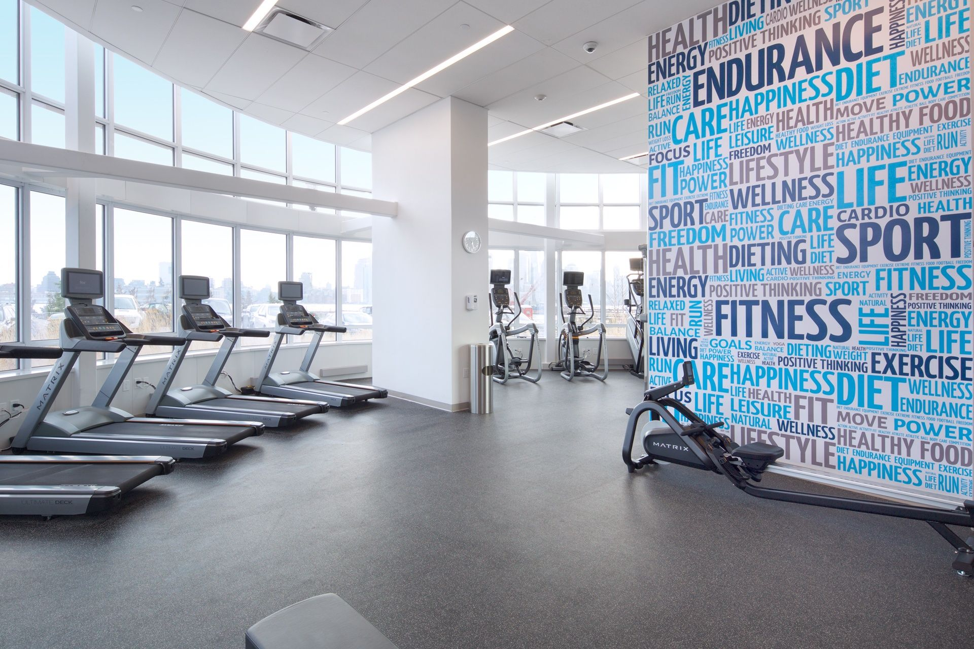 The 15 Best Gyms In Nyc Residential Buildings 6sqft Best Gym Wellness Design Residential Building