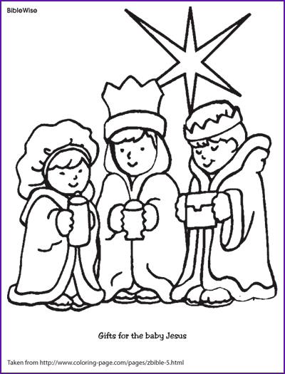 Coloring (Gifts for Baby Jesus) - Kids Korner - BibleWise ...