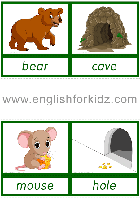 Esl Flashcards Animals And Their Homes Animals And Their Homes Reading Comprehension Worksheets Reading Comprehension