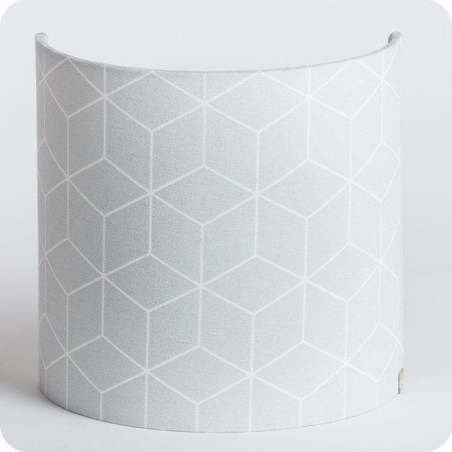 Applique Murale Demi Lune Tissu Cubic Gris Idées Pour La Maison
