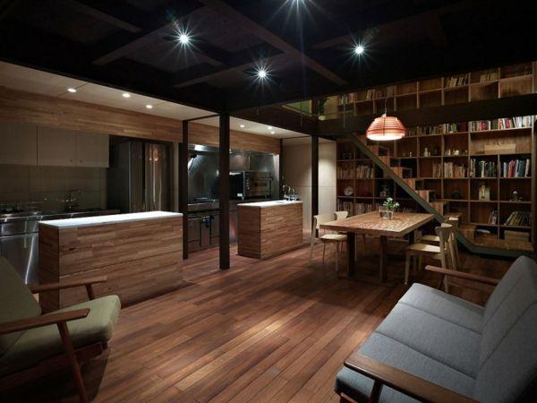 Minimalist architecture house by Naf ArchitectDesign Japanese