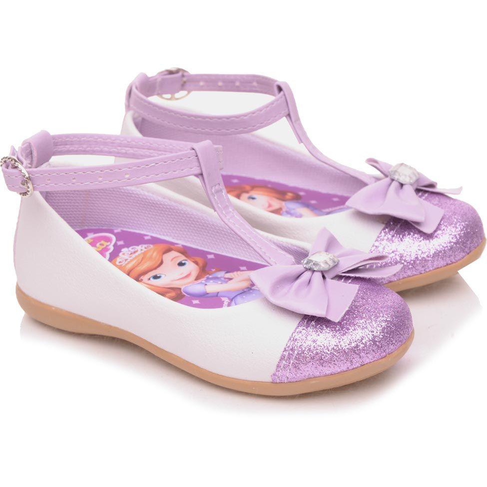 36f7c406b9 Sapatilha Infantil Disney By Tricae Glitter Sofia Lilás Lisa Sofia ...