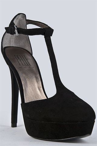 Pelle Moda - Heat High Heel Shoe - Black Kid Suede