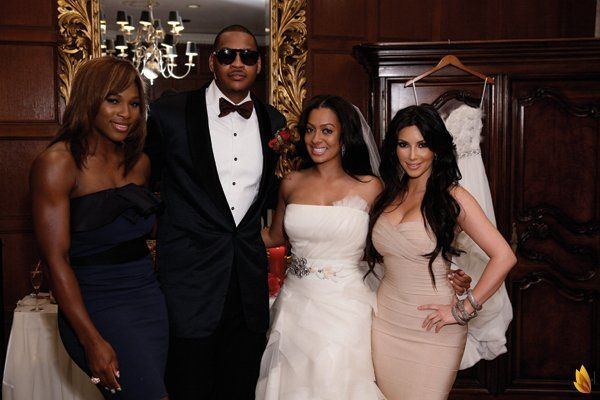 Lala Vazquez Carmelo Anthony S Wedding Reality Tv Celebrity Weddings Families Dress