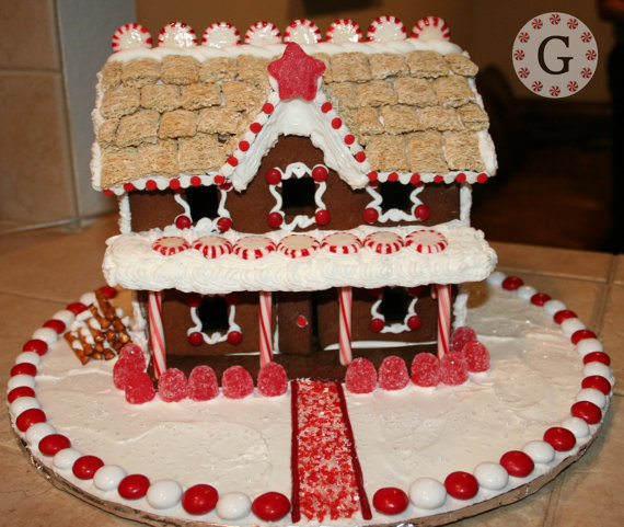 gingerbread house template two story  6 Story Inn Gingerbread House Template by ...