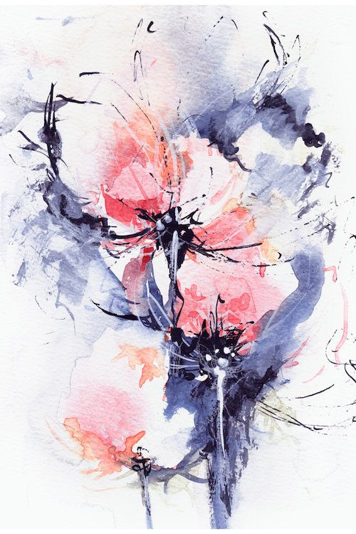 Wind Art Print By Lesia Binkin Watercolor Paintings Abstract